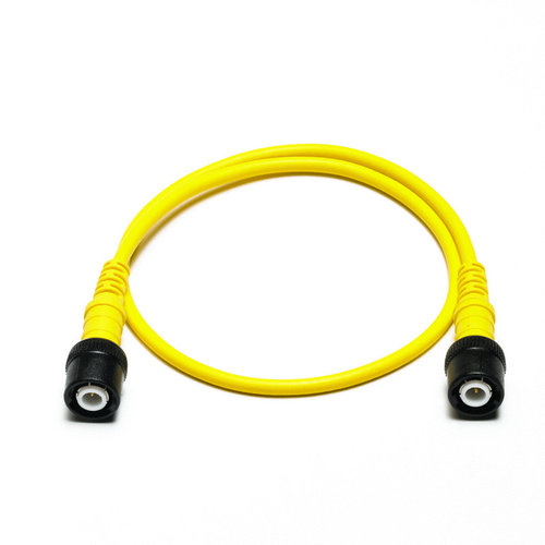 Cable: insulated BNC to insulated BNC 0.5m yellow