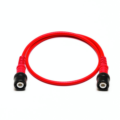 Cable: insulated BNC to insulated BNC 0.5m red