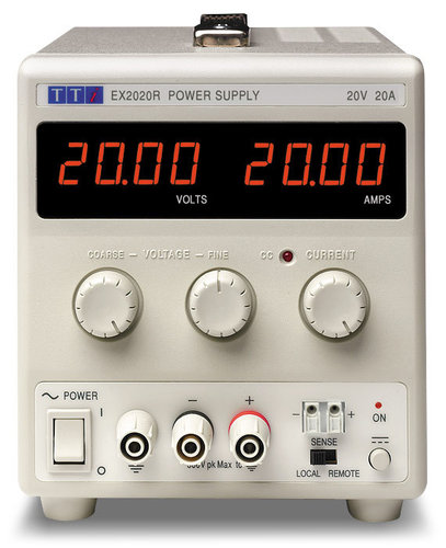 EX2020R - Bench DC Power Supply, Mixed-mode Regulation, Analog Controls 20V/20A Single