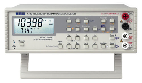 1705 - 4.25 digit Dual Measurement LCD Bench Multimeter RS-232 interface