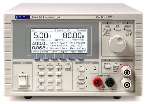 LD400 - Electronic DC Load, 80V, 80A, 400W with analog control interface only