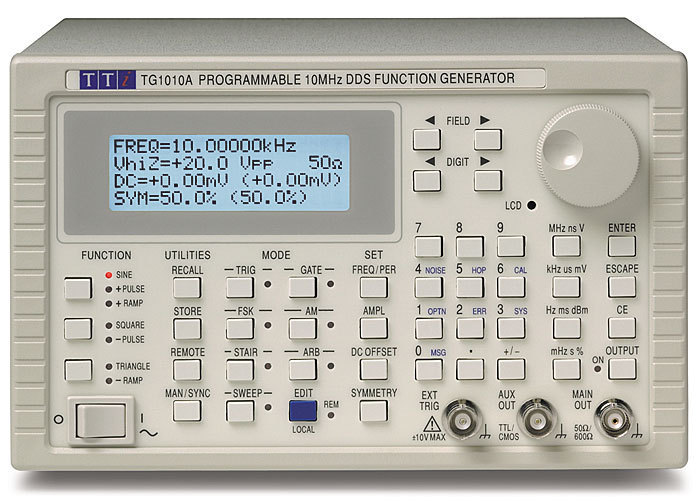 TG1010A - 10MHz DDS Function Generator, digital control