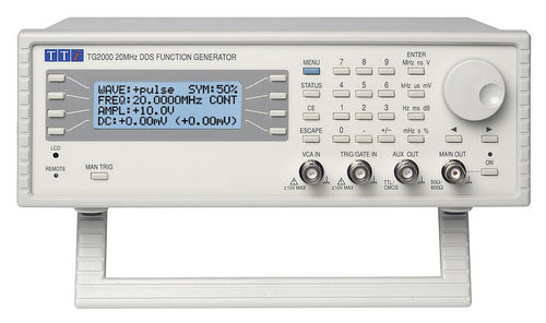 TG2000 - DDS Function Generator, Digital Control 20MHz Generator, USB & RS232 Interfaces