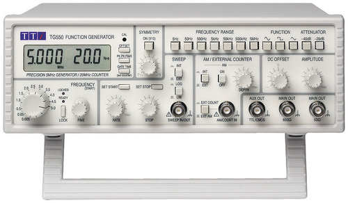 TG550 - 5MHz Advanced Analog Function Generator, Digital Locking