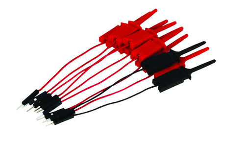 Pack of 10 Digital test clips (8 x red, 2 x black) for MSO