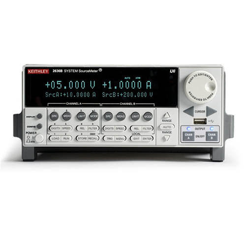 KEITHLEY-2636B - SYSTEM SOURCEMETER - DUAL CHANNEL, 200V, LOW CURRENT