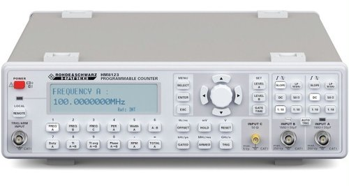 R&S® HM8123 - 3GHz universal counter,9 measurement functions,TCXO (temperature stability ±0.5x10-