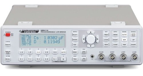 R&S® HM8118 - LCR bridge, L,C,R,|Z|,X,|Y|,G,B,D,Q,Theta,?,M,N, 20Hz...200kHz, basic accuracy 0.05%,