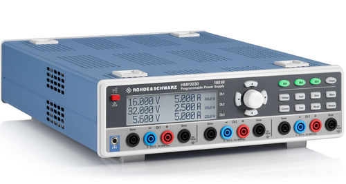 R&S® HMP2030 - Triple High-Performance Power Supply,3x 0...32V/5A, max. 188W,Sense, Resolution 1m