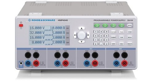 R&S® HMP4030 - Triple high performance power supply,3 x 0...32V/10A, max. 384W,sense, resolution