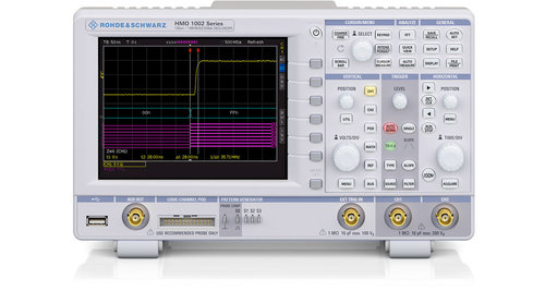 R&S® HMO1002 Series Oscilloscope,2 channels, up to 8 logic channels,1GSa/s, up to 100MHz Bandwidth