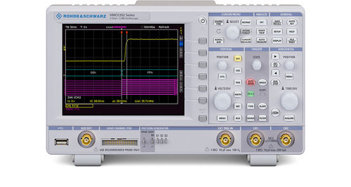 R&S®HMO1202 Series oscilloscope,2 channels, up to 8 logic channels,2GSa/s, 1MPts/ch up to 300MHz BW
