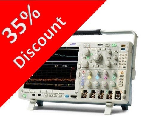 35 percent discount on MSO4104C oscilloscope