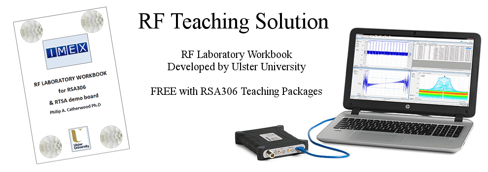 RF Teaching Solution Developed by Ulster University. Free with RSA306 teaching solutions.