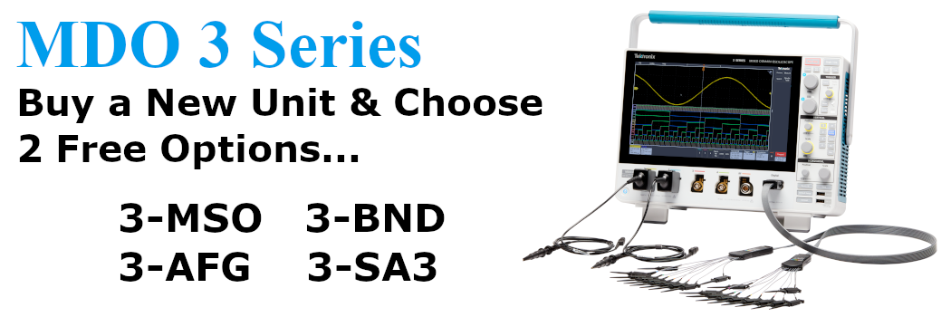 Buy a MDO3 Series and choose 2 free extras!