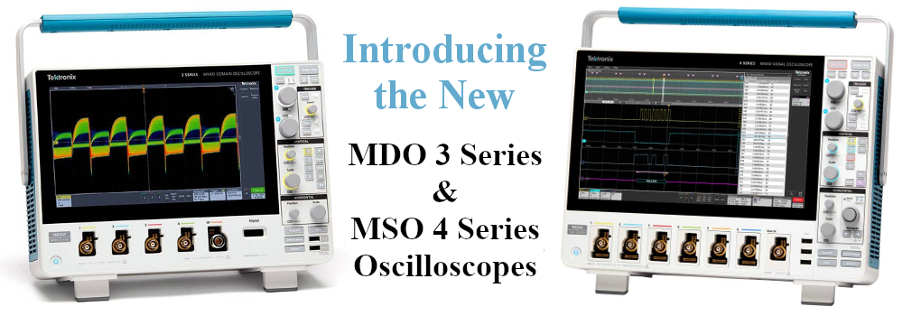 New MDO3 & MSO4 Oscilloscopes